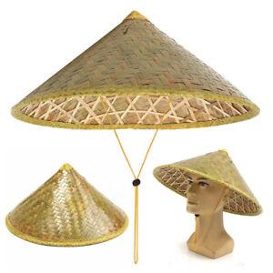 Chinese Oriental Vietnamese Coolie Straw Bamboo Sun Farmer Fishing Rice Hat