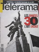 2458 ANNéES 30 L'ART ENGAGé MILOS FORMAN LARRY FLYNT JACQUES DEMY TELERAMA 1997