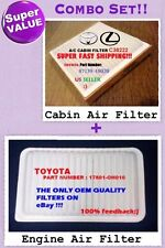 Combo Set CABIN Air FILTER & Engine Air Filter TOYOTA Highlander AF5432 + C38222