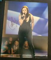 CARLY SMITHSON SIGNED 8X10 PHOTO AMERICAN IDOL E W/COA+PROOF RARE WOW