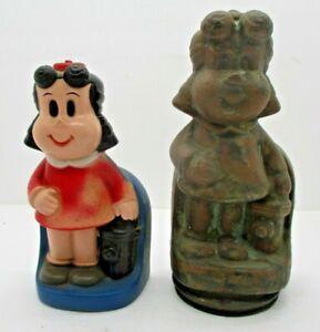 Little Lulu Bank Western Publishing Play Pal Plastics & Original Bronze Mold VTG
