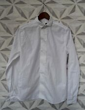 "NEW MANS WHITE DOUBLE BREASTED  EVENING  SHIRT SIZE SMALL CHEST 34""  H1"