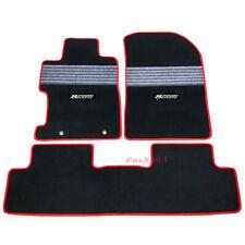 Fits 2006-2011 Honda Civic FA FD Nylon Floor Mats Carpets w/ Grey Strip & Spoon