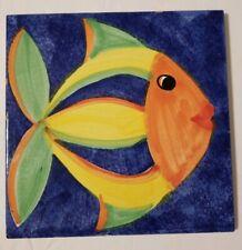 Sintopress Italian Hand Painted Fish Tile