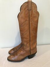 Hondo Vintage TALL Cowboy Boots Saddle Brown 7950 Men's 5.5 Women's 7.5 Mexico