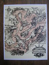 Vintage Disney  ( Jungle River Map ) Collector's Poster Print - B2G1F
