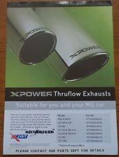 2003 2004 2005 MG X Power Thruflow Exhausts X Part MGF TF ZR ZS ZT ZT-T Brochure
