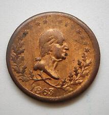 1863 George Washington/ 6 Point Star Patriotic Civil War Token