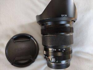 Fujifilm Fuji XF 10-24mm f/4 R OIS Lens + Hood - As New Condition