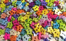 100 pcs colorful color star buttons size 7 mm