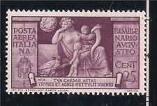 Italia Regno: AUGUSTO 1937, POSTA AEREA 25 CENT NUOVO LINGUELLATO LUSSO