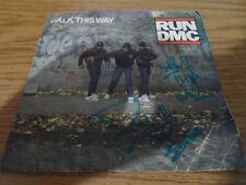 RUN DMC DARRYL MCDANIELS AUTOGRAPHED/SIGNED VINYL 45---WALK THIS WAY