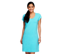 Isaac Mizrahi Live! Scoop Neck Short Sleeve Knit Dress Size 1X LEMONADE Color