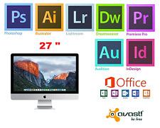 APPLE iMAC 27 inch, i5 16GB Adobe Photoshop,Illustrator,Indesign,MS Office 2016