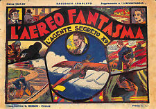"""[459] AGENTE SEGRETO X-9 ed. Nerbini 1937 n.  8 """"L'aereo fantasma"""" stato Discret"""