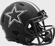 DALLAS COWBOYS NFL Riddell SPEED Mini Football Helmet BLACK ECLIPSE
