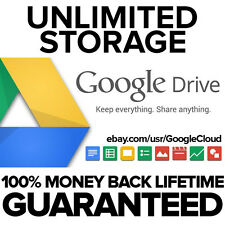 Unlimited Google Drive Cloud Storage LIFETIME Account (BEST SELLER)