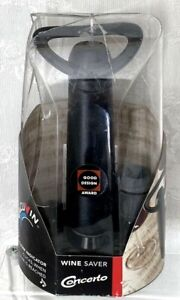 Vacuvin Innovations Concerto Wine Saver Vacuum Wine Preserver With Extra Stopper