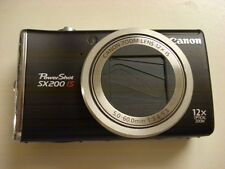 Nice Canon Powershot SX200 12MP Digital Camera 12x Optical Zoom