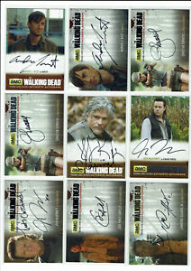 The Walking Dead Season 4 Pt 1 & Pt 2 Autograph Card Selection Base Silver Gold