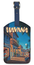 Leatherette Travel Luggage Tag Baggage Label - Havana by Kerne Erickson