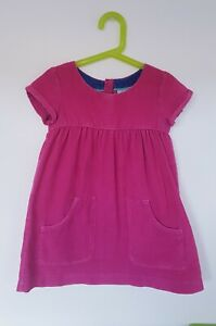 Mini Boden Girls Pink Cord Dress Age 4-5
