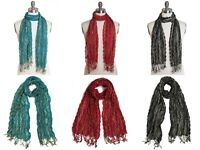 New Collection XIIX Chevron Pleated Wrap Around Shawl Scarf $28 Tags