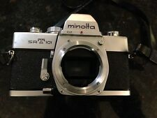Minolta SRT 101 35mm SLR Film Camera Body Only With Manual