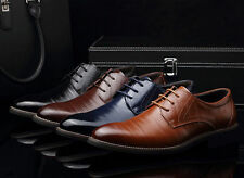 Men's Business Casual Oxfords Leather Shoes Party Wedding Dress Lace Up Loafers
