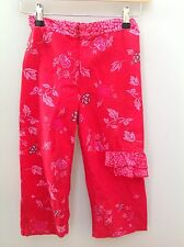 MARESE Pink Floral Cropped Trousers.  Age 10.  <N1986