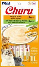 Wet Cat Treats Chicken Recipe Flavors 10 Tubes Pets Cats Food Natural Cat Treats
