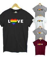 Gay Pride t shirt - LGBT rainbow tee top LOVE Black tee top Rainbow Heart