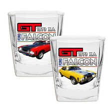 Ford 1973 XA Falcon GT Design 2 Piece Spirit Glass Set New In Gift Box