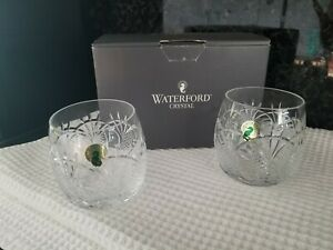 Pair of Waterford Crystal Seahorse Double Old Fashioned Glasses New in Box