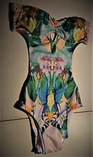 Swimsuit MONOKINI Sz 6  by H & M  Sexy Colorful Print Bare Sides & Back Tigers