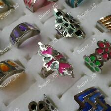 5pcs Enamel glaze stainless steel rings wholesale Fashion fashion free shipping