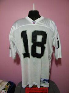 Reebok Randy Moss Oakland Raiders #18 NFL On Field Jersey Size Men's XXL
