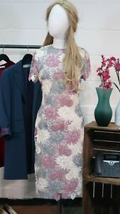 M&S Collection White, Blue & Lilac Lace Dress Size UK8 |  Anne Davies Donation