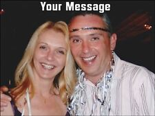 """YOUR OWN PERSONALISED PHOTO MESSAGE A4 Size (10"""" x 7.5"""")Wafer Paper Cake Topper"""