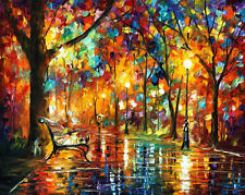 "Colorful Night —  Oil Painting On Canvas By Leonid Afremov. Size: 40""x30"" Modern"