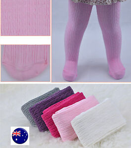 NEW Girls Baby Kids Cotton Mix Braided Warm Bottoms Tights Stockings 0-2YR