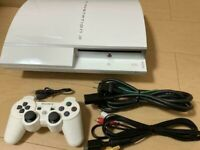 PLAYSTATION 3 PS3 Ceramic White 80GB Console SONY USED From Japan Working FedEx