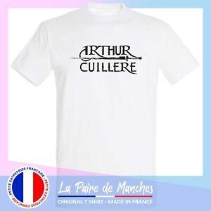 T shirt kaamelott, arthur cuillère, tee shirt homme coton blanc noir- ffsk2