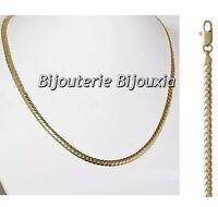 Chaîne collier maille anglaise bombée 45 cm Plaqué Or 18 Carats Bijoux femme