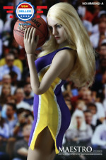 1/6 scale NBA Lakers Cheerleader Suit A for 12'' female figure body Phicen
