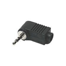 1 Fiche Jack 3,5 Mâle STEREO Capot Plastique COUDE Connections à Souder