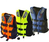 Adult Life Jacket Swimming Boating Ski Vest+Whistle Sailing Kayak Fising Vest US