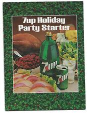 1981 7-UP Pop Holiday Cook Book Sharp!