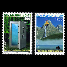 """San Marino 2001 - Europa stamps """"Forest"""" Nature - Sc 1501/2 MNH"""