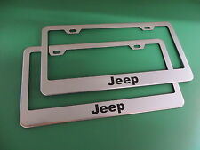 "(2)"" JEEP "" Stainless Steel license plate frame"